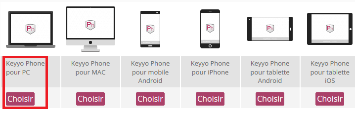 Keyyo_Manager_Install KPh pour PC_choix plateforme