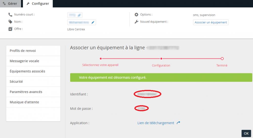 Keyyo_Manager_Install KPh pour Mac_paramètres équipement